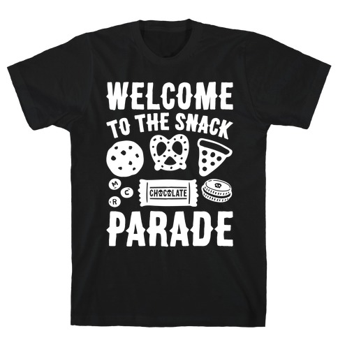 Welcome to The Snack Parade Parody White Print T-Shirt