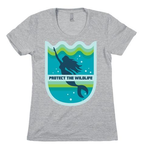 Protect The Wildlife (Mermaid) Womens T-Shirt