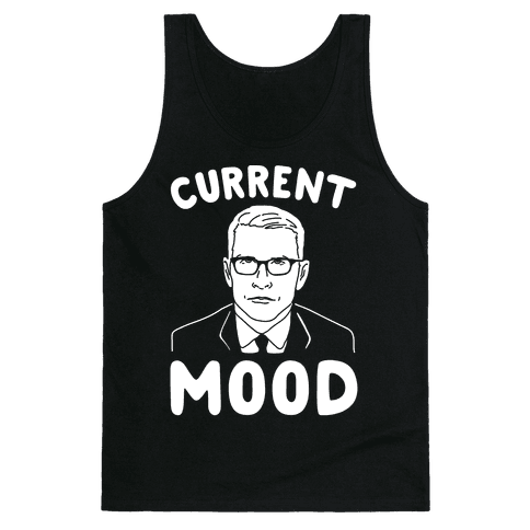 Current Mood Anderson White Print Tank Top