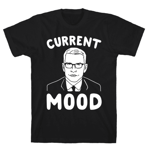 Current Mood Anderson White Print Mens T-Shirt