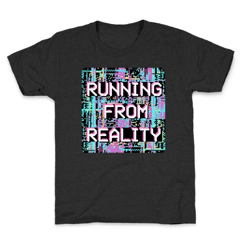 Running From Reality Glitch Kids T-Shirt