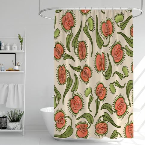 Venus Flytrap Vulvas Shower Curtain