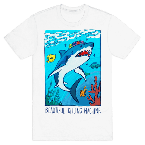 Beautiful Killing Machine Shark Mens T-Shirt