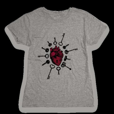 Keys To My Heart Womens T-Shirt