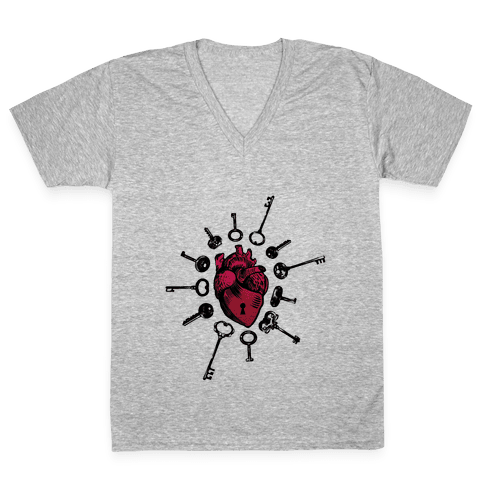 Keys To My Heart V-Neck Tee Shirt