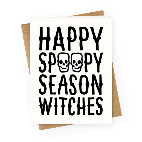 It's Spoopy Season Witches Greeting Card