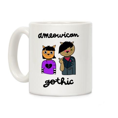 Ameowican Gothic Coffee Mug