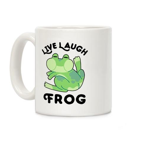 Live, Laugh, Frog Coffee Mug