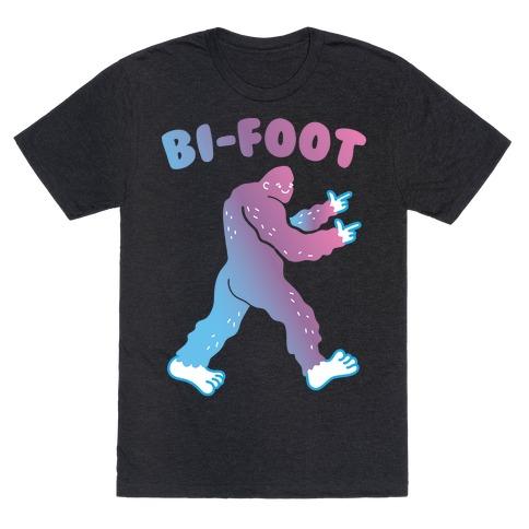 Bi-Foot Bisexual Bigfoot T-Shirt