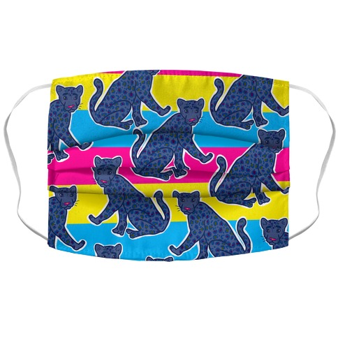 Pansexual Panther Accordion Face Mask