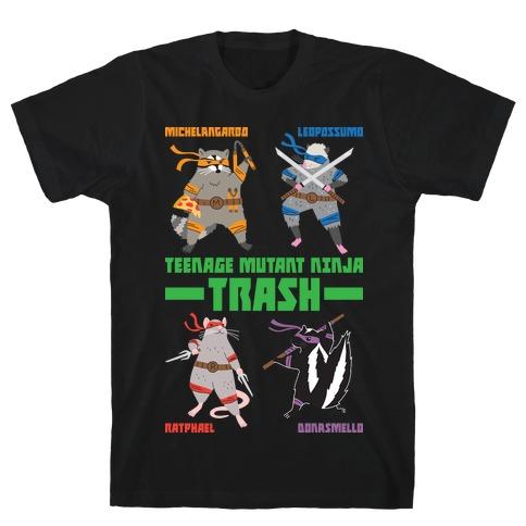 Teenage Mutant Ninja Trash TMNT Parody T-Shirt