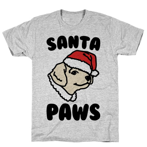 Santa Paws  Mens T-Shirt