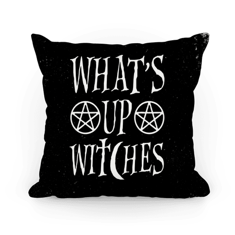 What's Up Witches Pillow
