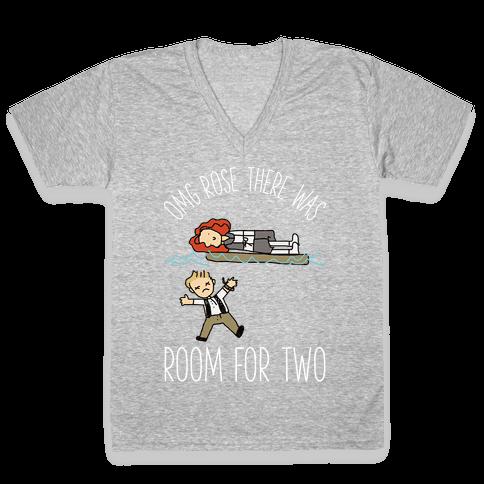 OMG Rose Color V-Neck Tee Shirt