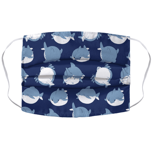 Fat Shark Pattern Face Mask Cover