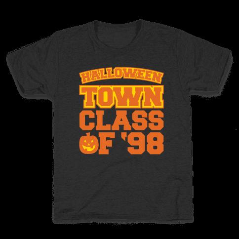 Halloween Town Class of '98 Parody White Print Kids T-Shirt