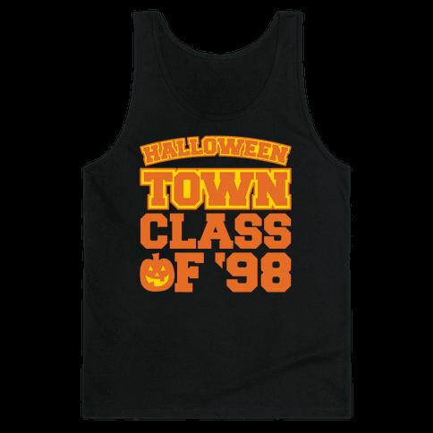 Halloween Town Class of '98 Parody White Print Tank Top