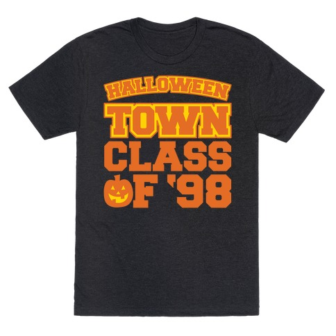Halloween Town Class of '98 Parody White Print T-Shirt