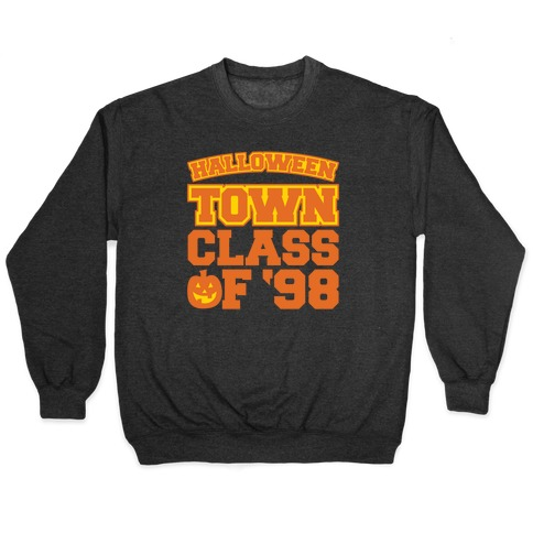 Halloween Town Class of '98 Parody White Print Pullover