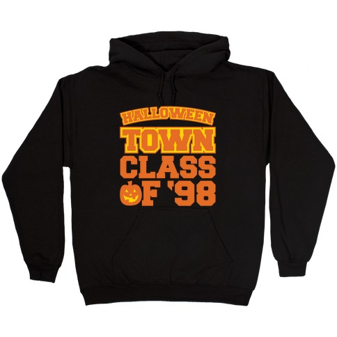 Halloween Town Class of '98 Parody White Print Hooded Sweatshirt