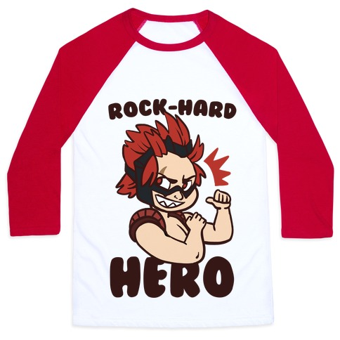 Rock-Hard Hero - Kirishima  Baseball Tee