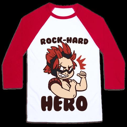 Rock-Hard Hero - Kirishima  Baseball Tee