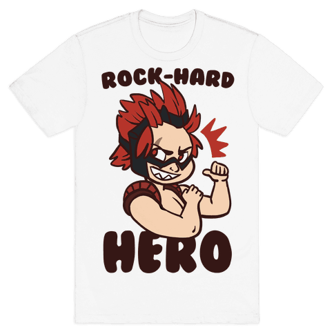 Rock-Hard Hero - Kirishima  Mens T-Shirt