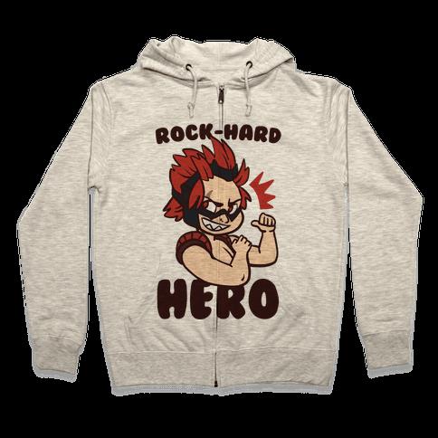 Rock-Hard Hero - Kirishima  Zip Hoodie