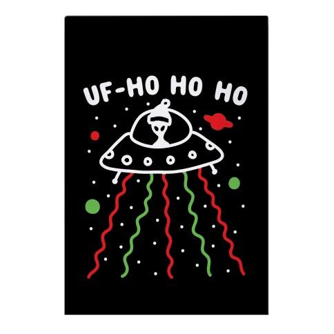UF-Ho Ho Ho Santa Alien Garden Flag