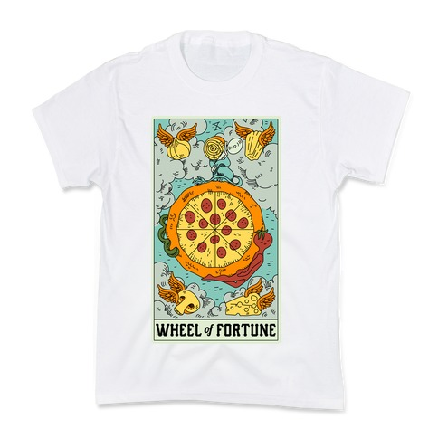 Wheel Of Fortune Pizza Kids T-Shirt