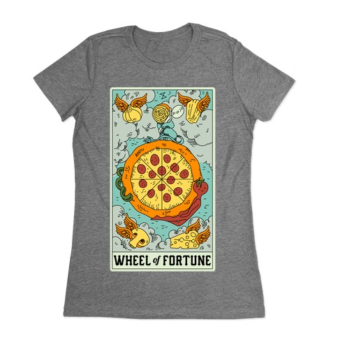 Wheel Of Fortune Pizza Womens T-Shirt