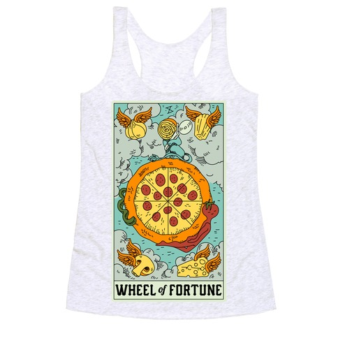 Wheel Of Fortune Pizza Racerback Tank Top