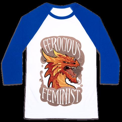 Ferocious Feminist Baseball Tee