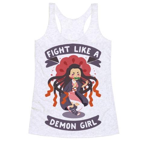 Fight Like a Demon Girl Nezuko Racerback Tank Top