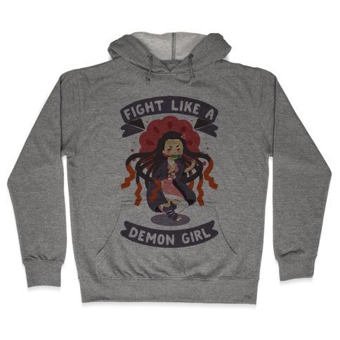 Fight Like a Demon Girl Nezuko Hooded Sweatshirt