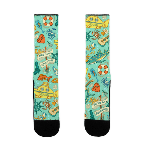 Life Aquatic Nautical Pattern Sock