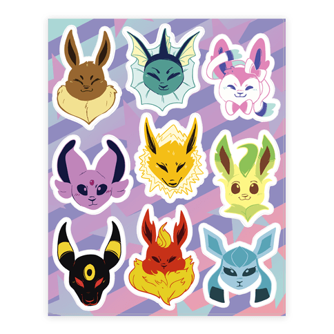 Eeveelution Sticker/Decal Sheet