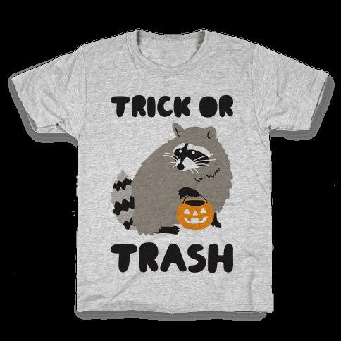 Trick Or Trash Raccoon Kids T-Shirt