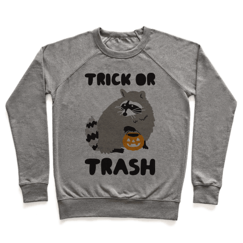 Trick Or Trash Raccoon Pullover