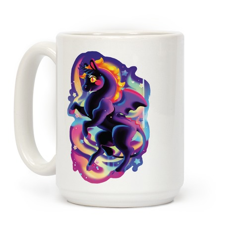 Neon Rainbow Jersey Devil Coffee Mug