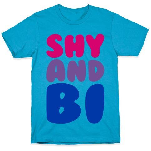 Shy And Bi White Print T-Shirt
