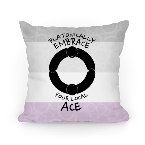 Platonically Embrace Your Local Ace Pillow