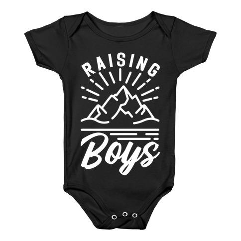 Raising Boys Baby Onesy
