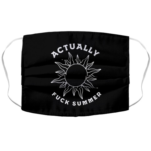 Actually, F*** Summer Accordion Face Mask