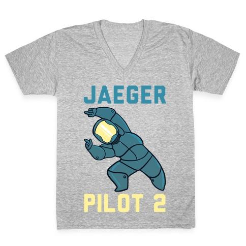 Jaeger Pilot 2 (1 of 2 Pair) V-Neck Tee Shirt