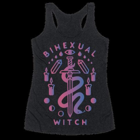 Bihexual Witch Bisexual Pride Colors Racerback Tank Top