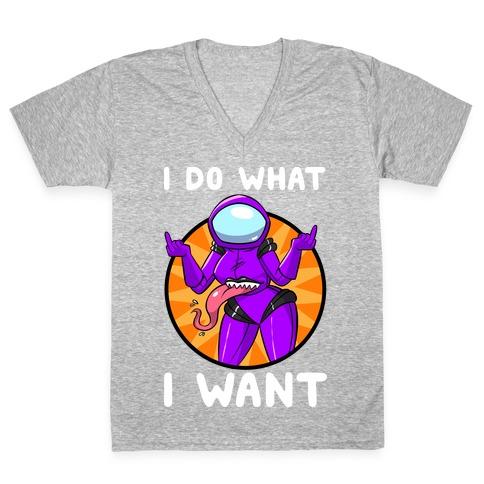 I Do What I Want V-Neck Tee Shirt