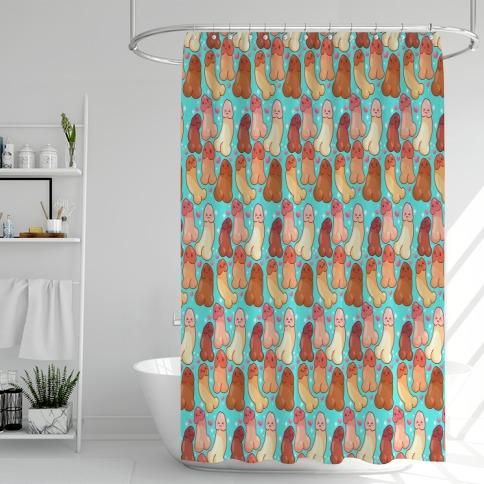 Kawaii Penises Pattern Shower Curtain