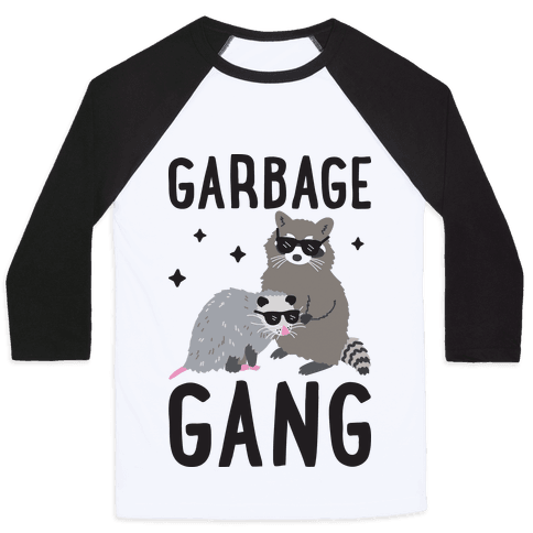 Garbage Gang Baseball Tee