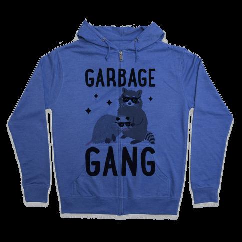 Garbage Gang Zip Hoodie